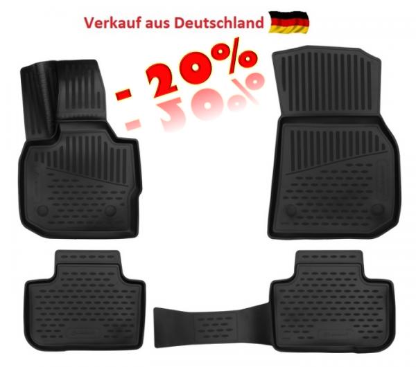 Fußraummatten Antirutsch BMW X3 4-teiliges Set - Jahr: 17 ->